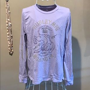 Long sleeve purple Hurley t shirt